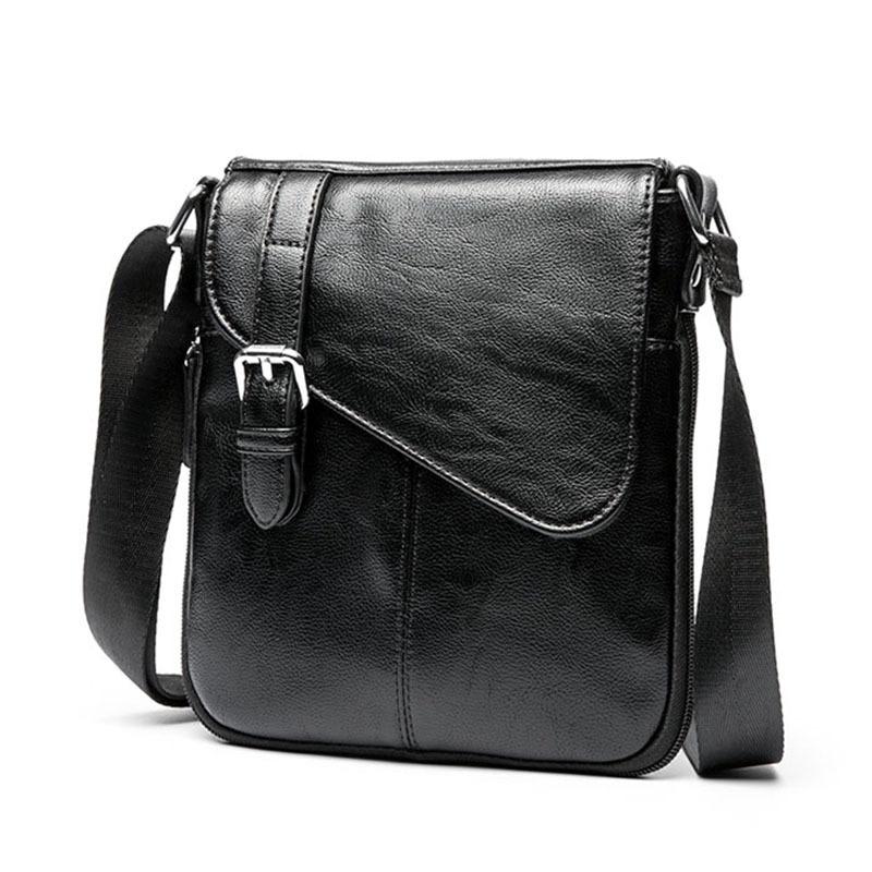 New Trend Men's Shoulder Bag Simple Wild Messenger Business Bags For Men Casual Small Torebki Damskie Skorzane Sling Monedero