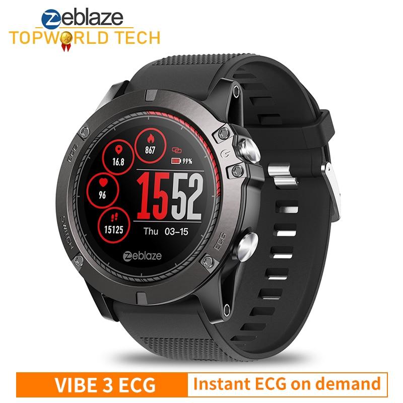 Zeblaze VIBE 3 ECG Smartwatch Instant ECG on demand Heart Rate IP67 Waterproof Fitness Tracker Multi-sports Modes Smart watch 1