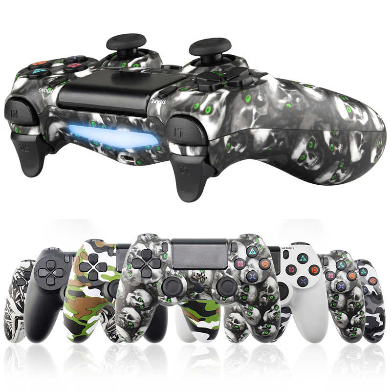 Para o Controlador Do Bluetooth Gamepad para Playstation Dualshock PS4 4 Joystick Gamepads Sem Fio para PS4/PS4 Pro Silm PS3 PC game Pad