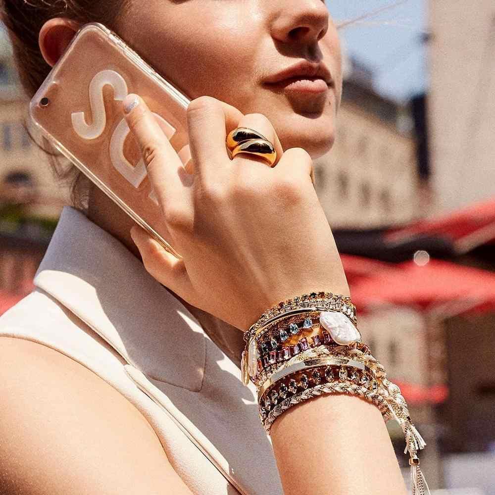 Girlgo 2020 แฟชั่นชั้นคริสตัลลูกปัดสร้อยข้อมือผู้หญิง Boho หรูหรา SHELL กำไลเครื่องประดับของขวัญขายส่ง Bijoux