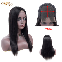 Lace Closure Wig Human Hair Wigs 4*4 For Black Women Brazilian Straight Non Remy 10-24 Inches