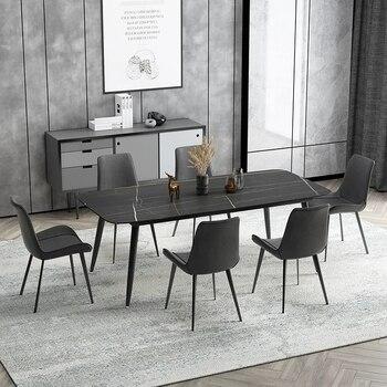 Modern design dining table minimalist creative 6/8 person rectangular