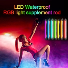 8W 3000K Remote Control Flash Rod Photo LED Video Lighting IP68 Waterproof Camping Light RGB Flashlight for Photography Diving