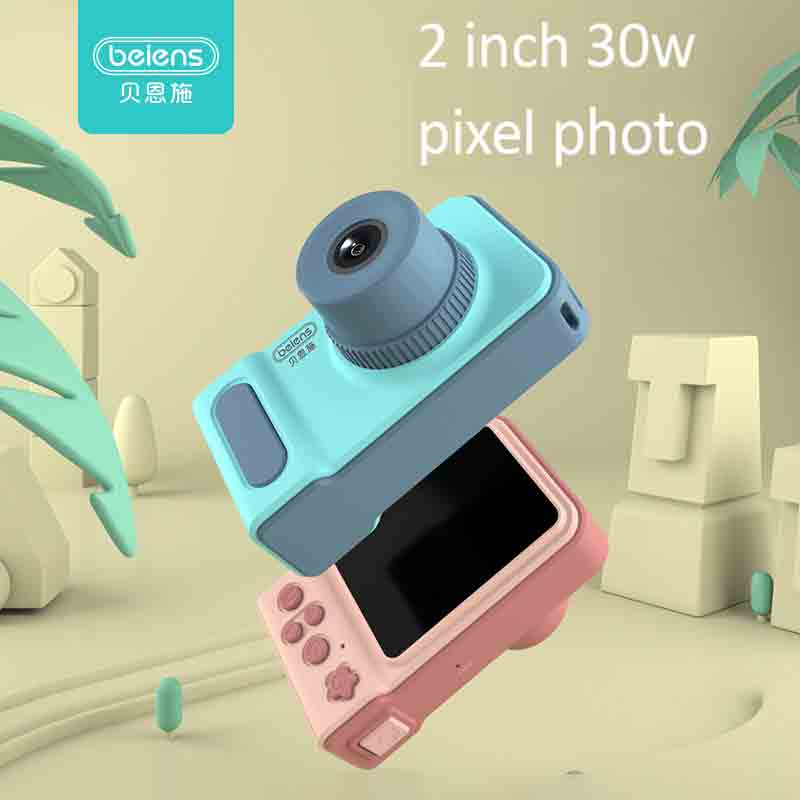 Beiens Kids Camera Toys Baby Cool Digital Photo Camera Children Educational Toy 12 Languages 32G Supported Birthday Gifts