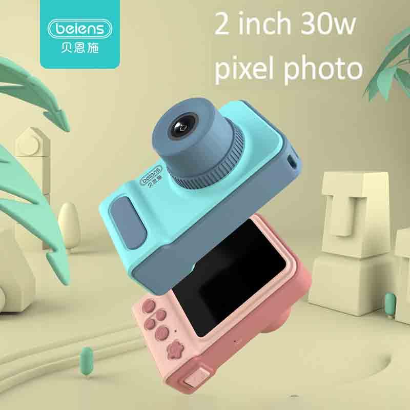 Beiens enfants caméra jouets bébé Cool numérique Photo caméra enfants jouet éducatif 12 langues 32G soutenu cadeaux d'anniversaire