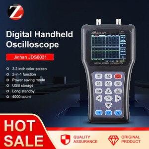 Image 1 - Gerador handheld portátil do sinal de jinhan jds6031 1ch 30m jds6052s 2ch 50m 200msa/s 5 línguas do osciloscópio do strorage de digitas