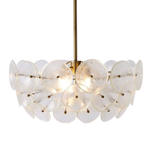 Modern Italian HongKong light luxury Ins frosted glass circular living room bedroom dining room designer chandelier