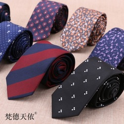 6 см галстук 1200 игла Полиэстер Шелк Тощий Британский мужской бизнес Профессиональный окрашенный в пряже женатый производитель