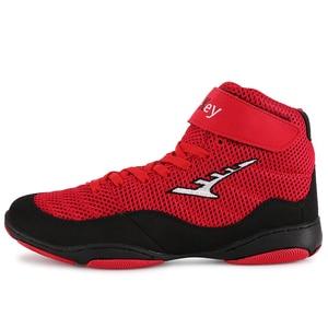 Zapatillas profesionales de lucha de boxeo para hombres y mujeres, zapatos de levantamiento de pesas, suaves y transpirables, para entrenamiento de boxeo