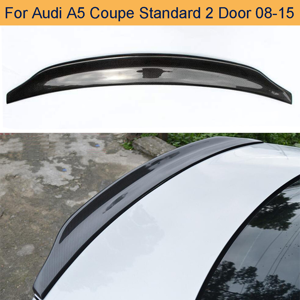 Carbon Fiber Car Rear Trunk Spoiler Wing for Audi A5 Coupe Standard 2 Door Only 2008 - 2015 Rear Wing Spoiler Non for S5 Sline image
