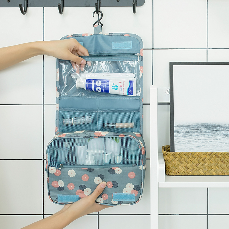 Waterproof Women Hanging Cosmetic Bag Travel Organizer Toiletry Wash Make Up Storage Pouch Beautician Folding Makeup Bag