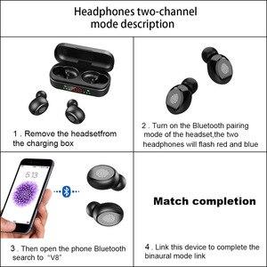V8 наушники вкладыши TWS с Беспроводной наушники Bluetooth наушники 5,0 9D бас стерео Водонепроницаемый наушники Bluetooth гарнитура с микрофоном и зарядным устройством|Наушники и гарнитуры|   | АлиЭкспресс