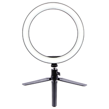 ABGN Hot-Ring Light 10 Inch LED Dimmable Desktop Lamp Makeup Selfie Ring Light with Tripod Stand & Cell Phone Holder for YouTube