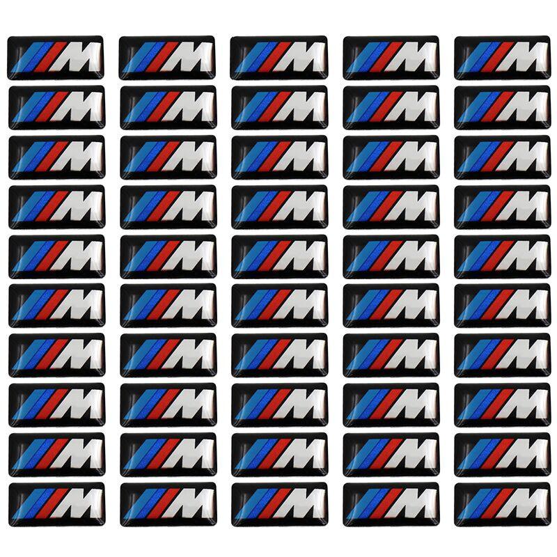 50pcs Car Steering Wheel Sticker Car Epoxy Sticker For Bmw M Sticker X1 X3 X4 X5 X6 X7 E46 E90 F20 E60 E39 F10 Car Accessories