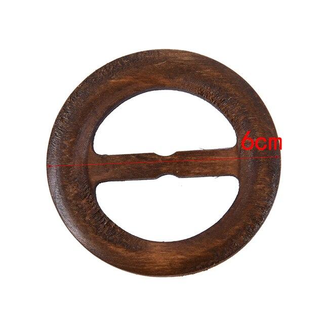 Forme ronde Garniture à la main en bois artisanat ceinture boucle anneau bois vêtements accessoires couture enfants bricolage 50-80mm