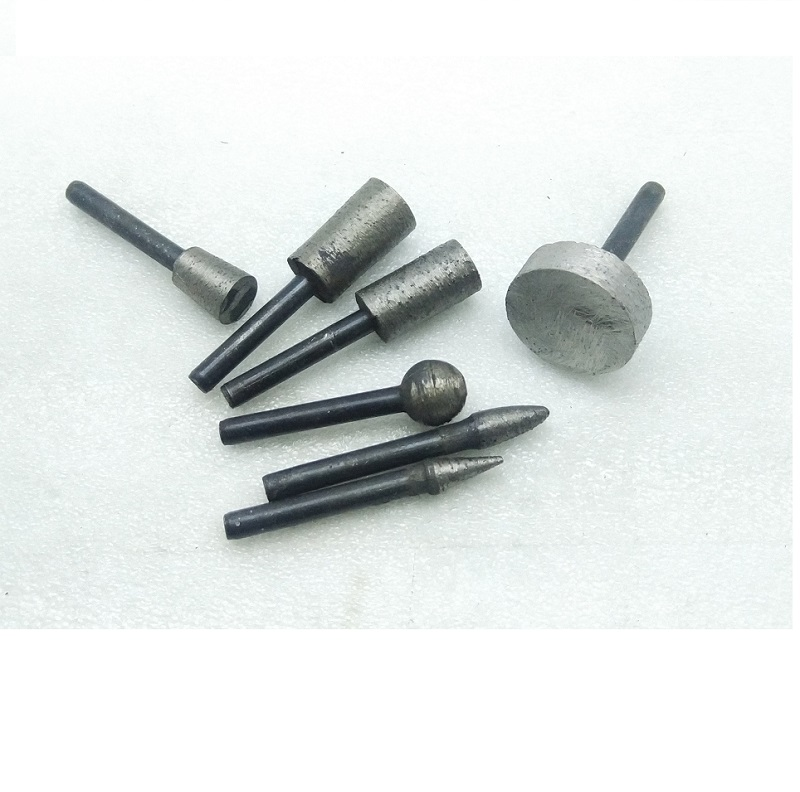 New 7kind/Set Diamond Sintered Carving And Grinding Head Cutting Wheel For Stone,  6mm Shank Carving Grinding