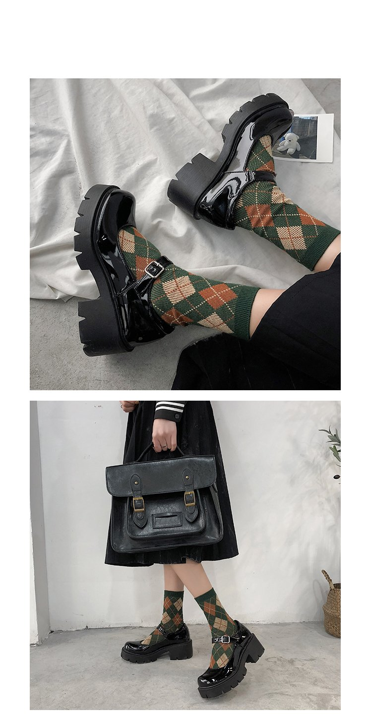 Small leather shoes women 2020 spring models Mary Jane shoes women's Japanese high heels retro platform shoes women