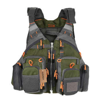 Lixada Fishing Vest Breathable Outdoor Sports Fly Swimming Life Safety Waistcoat Survival Utility Fly Vest Colete Salva-Vidas - DISCOUNT ITEM  30 OFF Sports & Entertainment