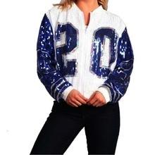 Спортивная куртка с длинными рукавами на молнии в греческом стиле с рукавами «летучая мышь» и пайетками zeta Phi Beta Inspired 20 ZPB
