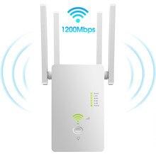 Répéteur wi-fi sans fil AC1200Mbps/routeur 802.11ac, 2.4/5.8GHz, avec quatre antennes, blanc, prise EU/US
