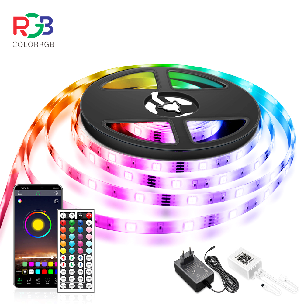 10M LED 5050 RGB Strip Light  APP Control Color Flexible Ribbon luces led light strip RGB led light strip