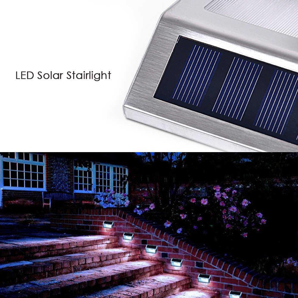 Наружные лампы, солнечный ступенчатый светильник s, садовый светодиодный светильник, Индукционная подсветка для ступеней, теплый светильник, практичные лампы, сенсорный переключатель для домашнего использования