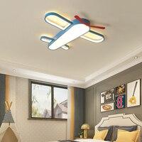 Ererrec moderna sala de crianças led luzes teto ac85 ac85 265 v casa luminárias para o quarto bebê avião lâmpada do teto