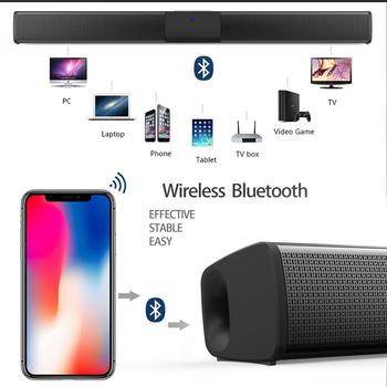20W TV Soundbar Wired & Wireless Bluetooth Speaker HiFi Stereo Home Theater Sound Bar Subwoofer Column for Smart Mobile Phone PC 5