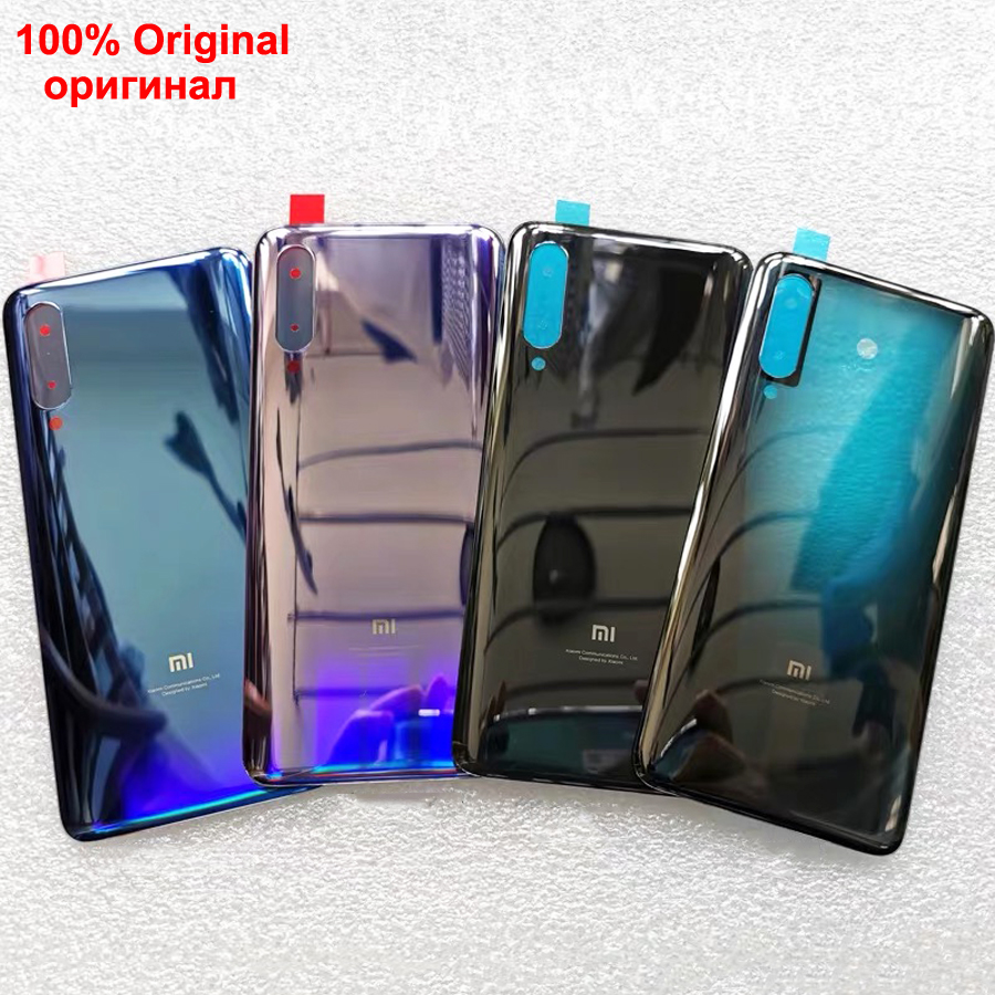 100% Original Gorilla Glass For xiaomi 9 mi 9 MI9 Back Cover Back Door Replacement Hard Battery Case Rear Housing Cover ExplorerMobile Phone Housings & Frames   -
