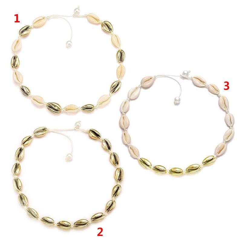 Экологически чистое ожерелье с искусственным жемчугом из натуральной раковины, модное простое ожерелье ручной работы для женщин и девочек,... - 5