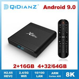 Image 1 - X96AIR אנדרואיד 9.0 מיני טלוויזיה תיבת Amlogic S905X3 Quad Core 2.4G/5G Wifi קול שליטה 8K HDR מדיה נגן חכם X96air