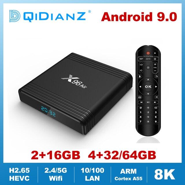 X96AIR אנדרואיד 9.0 מיני טלוויזיה תיבת Amlogic S905X3 Quad Core 2.4G/5G Wifi קול שליטה 8K HDR מדיה נגן חכם X96air