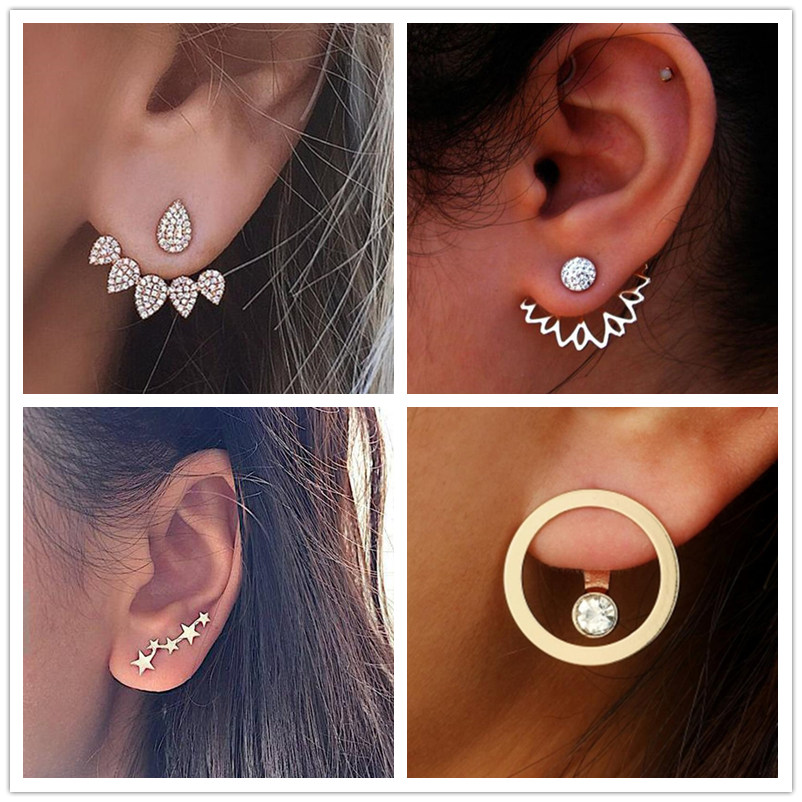 New Crystal Flower Drop Earrings For Women Fashion Jewelry  Silver Gold Rhinestones Earrings Gift For Party And Best Friend 2019