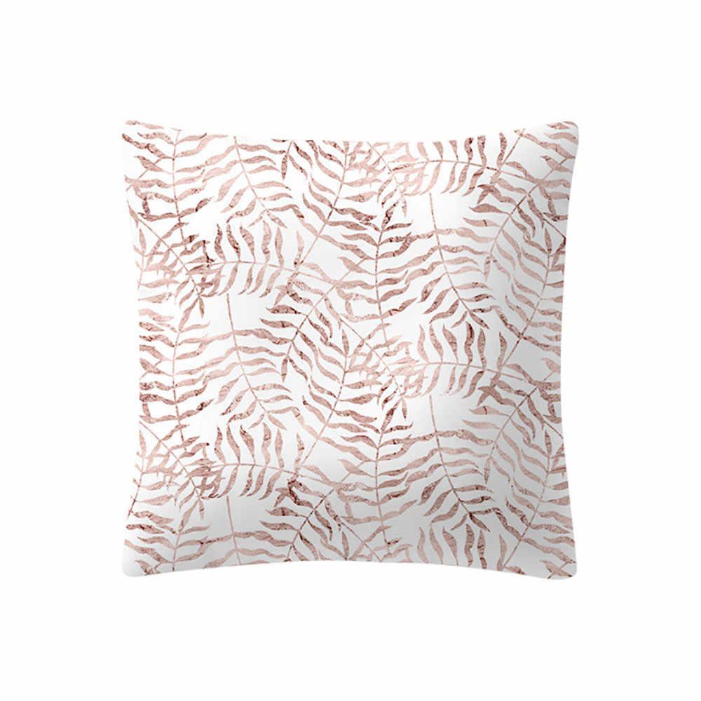 Vỏ Gối Hoa Hồng Vàng Hồng Đệm Vuông Áo Gối Trang Trí Nhà Gối Trên Ghế Sofa Xe Giường Nằm Trang Trí Funda Cojin # l5