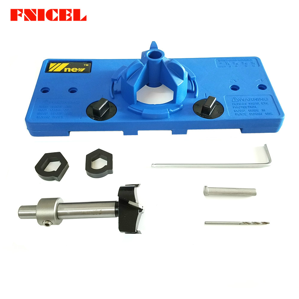 NEW 35MM Cup Style Hinge Boring Jig Drill Guide Set Door Hole Template For Carpenter Woodworking DIY Tools