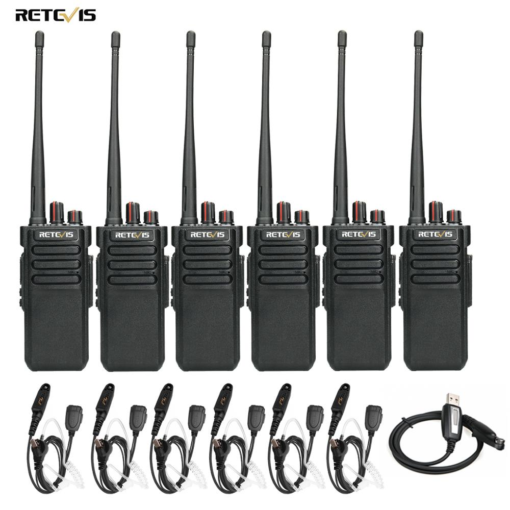 6pcs RETEVIS RT29 Walkie Talkie Powerful Handy UHF (or VHF) IP67 Waterproof (optional) Long Range Two Way Radio Comunicador
