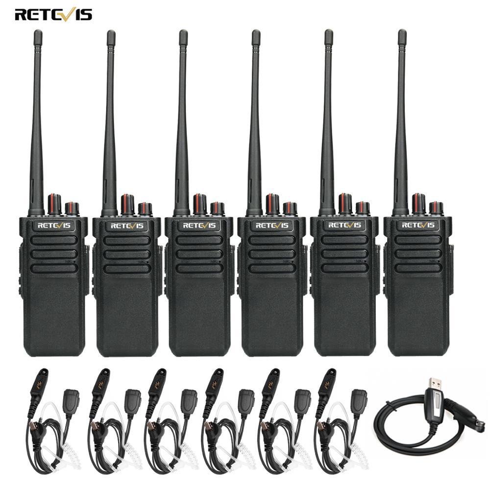 RETEVIS RT29 Walkie Talkie Powerful Handy UHF (or VHF) IP67 Waterproof (optional) 6pcs Long Range Two Way Radio Comunicador