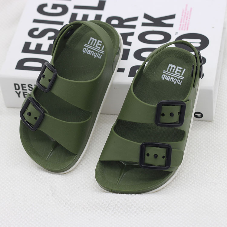 New Boys Sandals Kids Shoes Summer Children Beach Shoes Male Sports Anti-slip Casual Toddler Baby PU Leather Rubber Sandal Flats