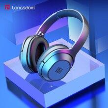 Langsdom BT25 Active шум шумоподавления наушники беспроводной Bluetooth гарнитура с микрофоном для телефонов ANC сумкой 38 H