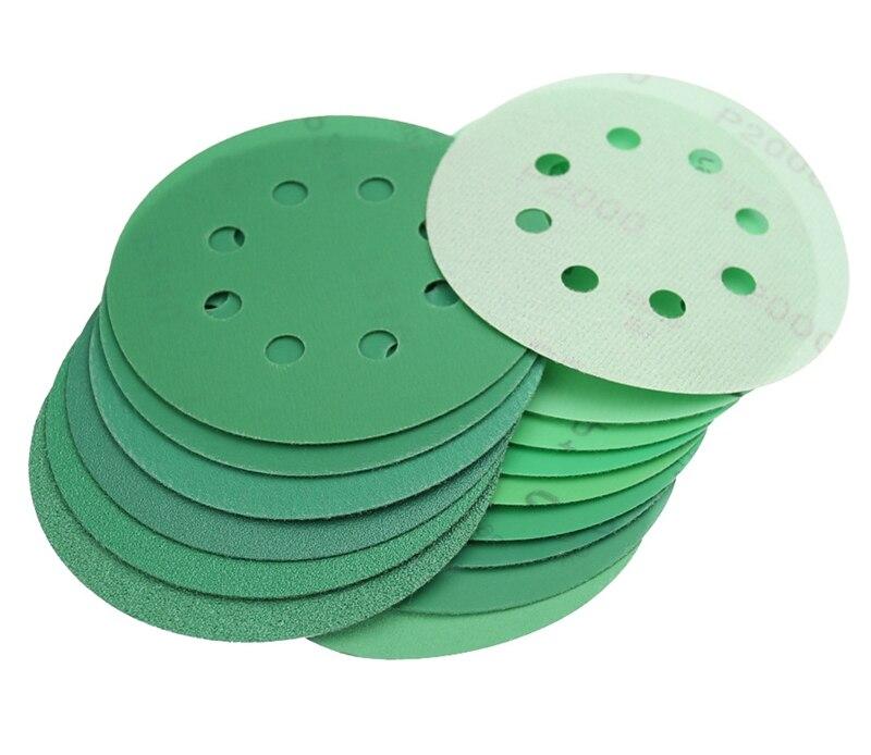 "6"" Film Sanding Discs No Holes Hook/&Loop 100 Pcs Ideal for Car Repair Grit P120"