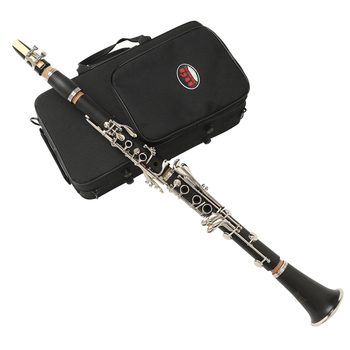 Black Clarinet  JYCL-E100 Bb 17 key Bohem system hard rubber body Woodwind Instruments With Cleaning Cloth Reed Music Instrument low c bass clarinet bb key hard bakelite body nickel plated