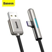 Baseus 40W aydınlatma USB tipi C kablosu için Huawei Mate 30 20 P30 P20 P10 Pro Lite 4A Dash şarj cihazı USB-C tip-c USB kablosu tel kordon