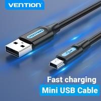 Vention Cable Mini USB rápido de carga de USB a Mini Cable de datos USB para cámara Digital HDD MP3 MP4 reproductor DVR GPS Mini USB 2,0 Cable