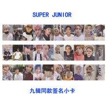 Kpop Super Junior Time_slip Paper Photo Cards SJ SUJU Autograph Self Made Photocard Yesung Eun Hyuk Picture Poster Fan Gift