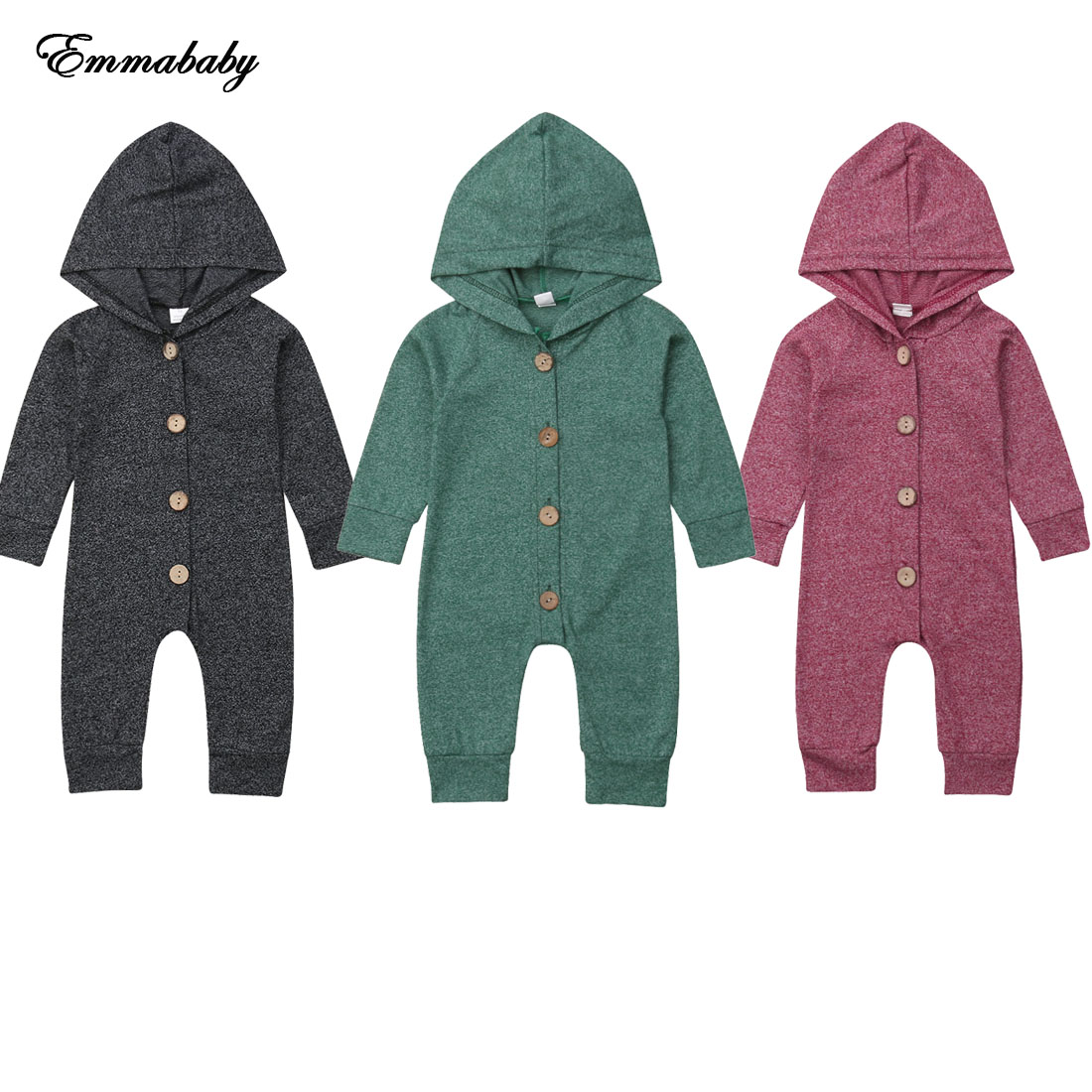 NEW 2020 Infant Baby Boy Girl Hooded Romper Kid Outerwear Outfit Jumpsuit For Children Clothes Kid Clothing 0-24M