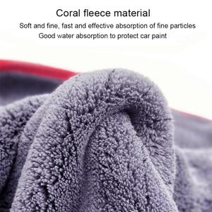 Image 2 - Trapo para coches 90x60cm detallado de coches trapo lavado coche microfibra toalla coche limpieza 900GSM microfibra gruesa para el cuidado del coche Cocina