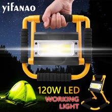 8000lm супер яркий светодиодный рабочий светильник 120w usb