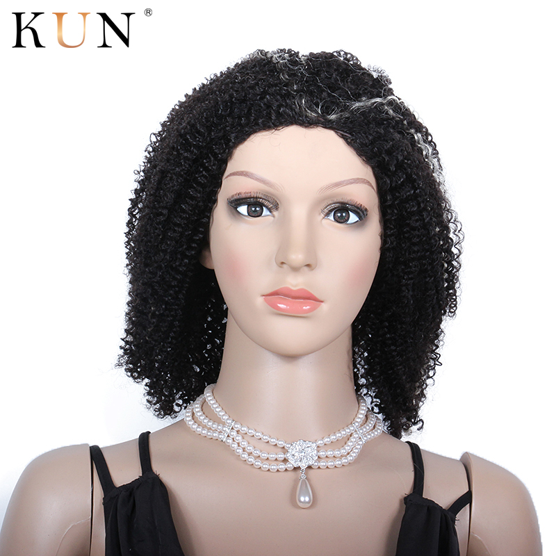 Kinky Curly Wig 613 Blonde Lace Front Wig Ombre Short Human Hair Wigs Brazilian Glueless Wig Remy Pre Plucked For Women KUN