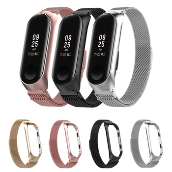 Sport Metal Bracelet for Xiaomi Band 3/4 Wrist Strap Miband 3 Wristband Smart Watch Band Mi Band3 Stainless Steel Strap for Mi4 stainless steel watch band 26mm for garmin fenix 3 hr butterfly clasp strap wrist loop belt bracelet silver spring bar