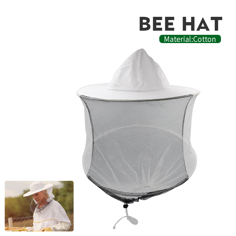 Bee Keeping Hat Beekeeping Mesh Net Head Face Protector Cap Outdoor Mosquito Bees Tools Veil Protective Beekeeper Equipment